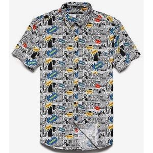 Forever 21 Shirts - Forever 21 Men comic book pop art fitted shirt